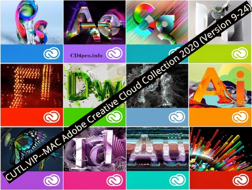 MAC Adobe Creative Cloud Collection 2020 (Version  9-24)